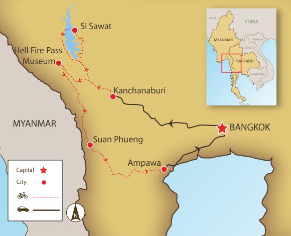 Kanchanaburi Thailand Map.Kanchanaburi Hills
