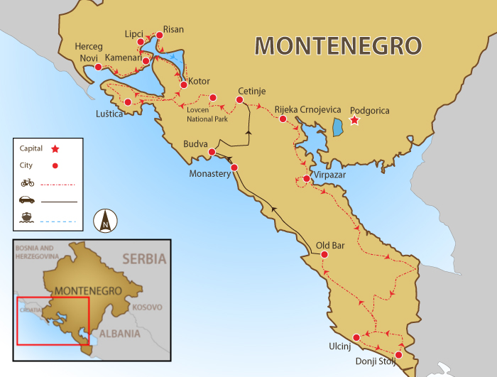 Kotor Montenegro Karte.Bay Of Kotor Map Quotes Of The Day