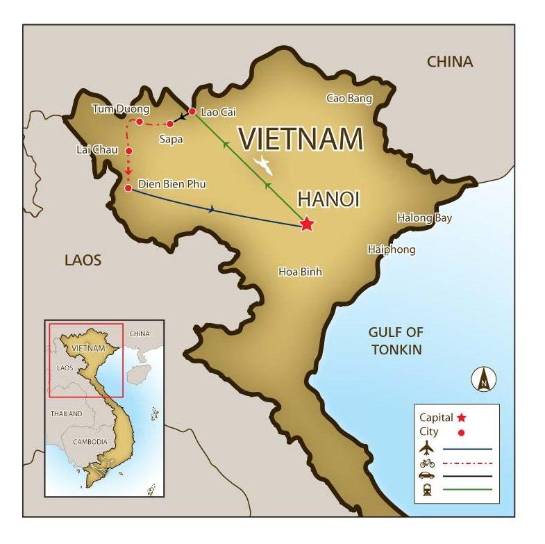 Mountains In Vietnam Map.Mountain Biking Tour In Veitnam S Northwest Mountains